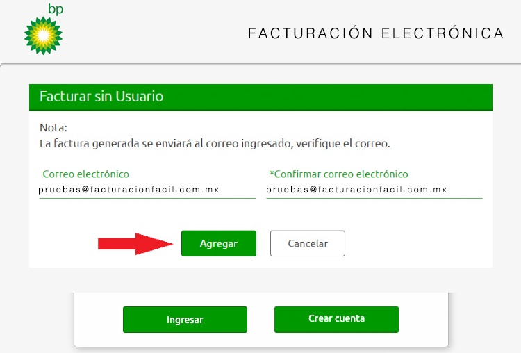 Facturación BP